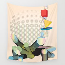 Geometric Shapes in Motion: an Abstraction in Color Wall Tapestry