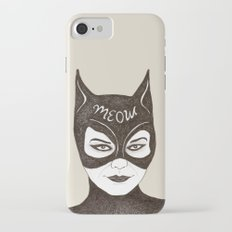 cat woman iPhone 8 Slim Case