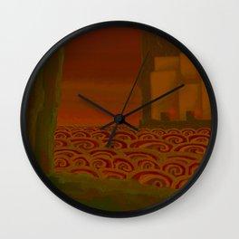 Multitudinous Seas Incarnadine Wall Clock