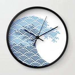 Japaneese Wave Wall Clock