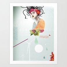 FRASK techno Art Print