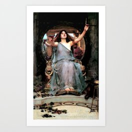 "John William Waterhouse ""Circe Offering the Cup to Odysseus"" Art Print"