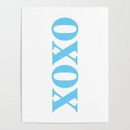 Light Blue XOXO Poster
