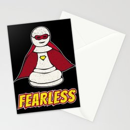 Fearless Superhero Pawn Chess Piece - Cool Chess Club Gift Stationery Cards
