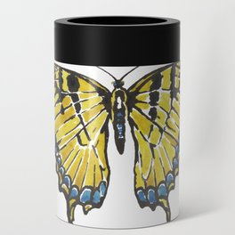 Yellow Swallowtail Butterfly Can Cooler