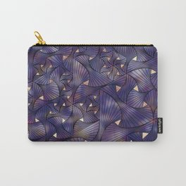 Ultraviolet and Gold Mesh Carry-All Pouch