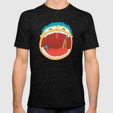 Oh, They're Teeth People! Mens Fitted Tee Tri-Black SMALL