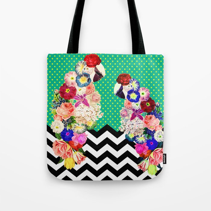 Tropical Parrot Tote Bag