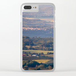 Italian countryside view Clear iPhone Case