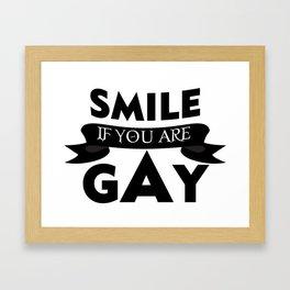 smile - Gay dePri T-Shirt Framed Art Print
