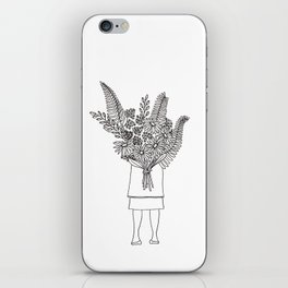 Flowers For You Ink Drawing iPhone Skin