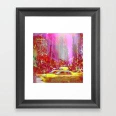 Moving to New York  Framed Art Print