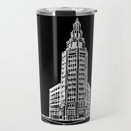 the Electric Tower at Night Travel Mug