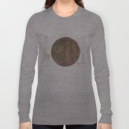 Vintage Map of The Moon (1961) 2 Long Sleeve T-shirt