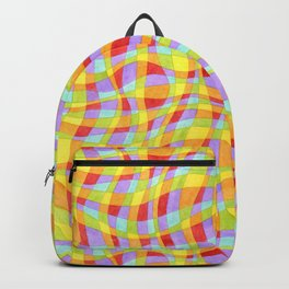 Candy Rainbow Plaid Backpack