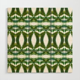 Palm Leaf Kaleidoscope (on white) #2 Wood Wall Art