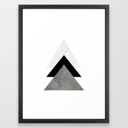 Arrows Monochrome Collage Framed Art Print