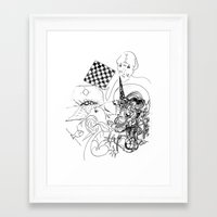 chess Framed Art Prints featuring Chess. by sonigque