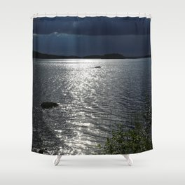 Before Rain - Lakescape by the Night Shower Curtain