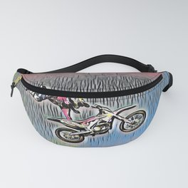 Motocross Sticky Paper Not Dry Style Motorbike Recing Fanny Pack