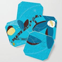 Blue Saucer Magnolia Coaster