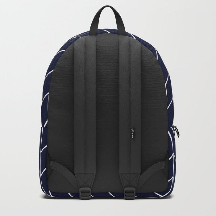 Chevron pattern -  white on dark blue Backpack