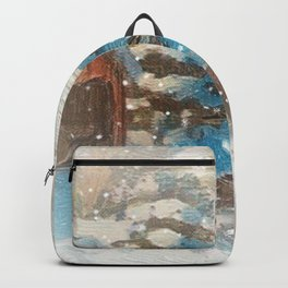 """Sleigh ride Snowfall"" Backpack"