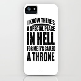 Gothic devil hell Satan throne Funny Gifts iPhone Case