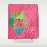 diamonds Shower Curtains featuring Diamonds by Sandra Arduini