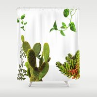 plants Shower Curtains featuring Plants by jajoão