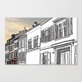Strasse Pastiche  Canvas Print