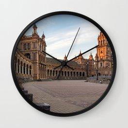 The Plaza de España; Spain Square Seville  Wall Clock