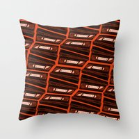 return Throw Pillows featuring Return by Gimetzco's Damaged Goods