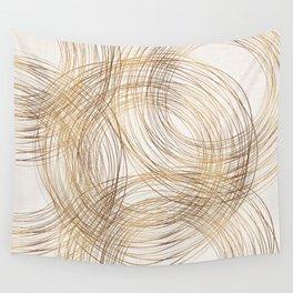 Metallic Circle Pattern Wall Tapestry