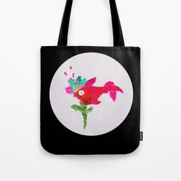 fish with flower Tote Bag