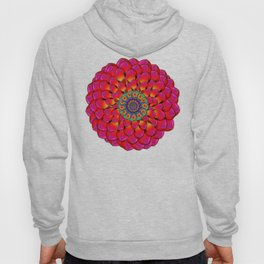 Dahlia Flower Endless Eye Abstract Hoody