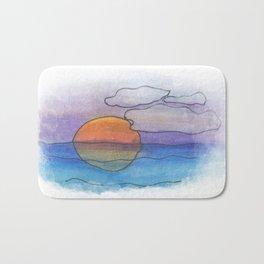 Sunset Dreaming - Watercolor Design Bath Mat