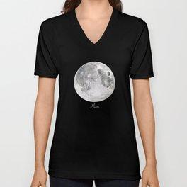 Moon #2 Unisex V-Neck