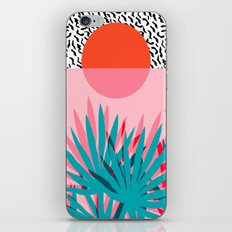 Whoa - palm sunrise southwest california palm beach sun city los angeles retro palm springs resort  iPhone Skin