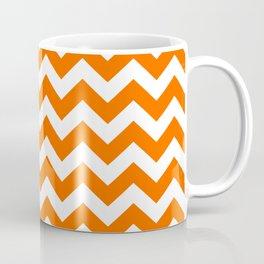 Tangerine Safari Chevron Coffee Mug