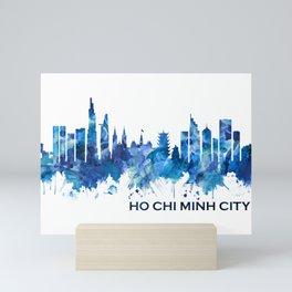 Ho Chi Minh City Vietnam Skyline Blue Mini Art Print