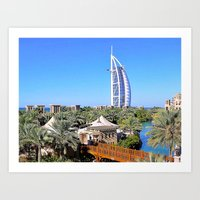 arab Art Prints featuring Dubai - Burj Al Arab by Art-Motiva
