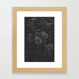 Floral (Black and White) Framed Art Print