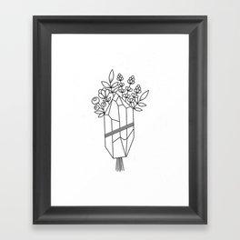 Crystal Flower Bouquet Framed Art Print