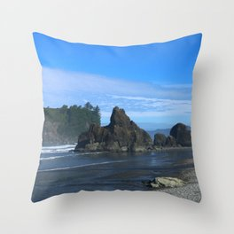 Morning At Ruby Beach Throw Pillow