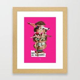 NO AL SEXISMO Framed Art Print