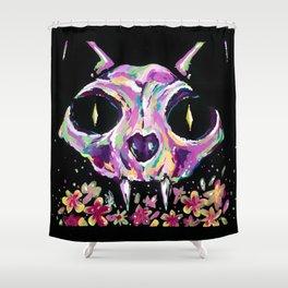 Cat skull Shower Curtain