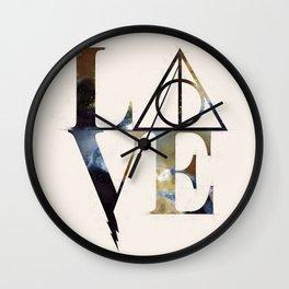 Love Always Watercolor Wall Clock