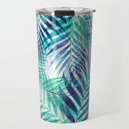 Palm Leaves - Indigo Green Travel Mug