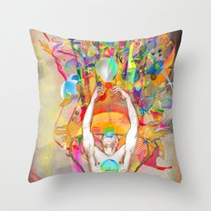 Hydrascensionism Throw Pillow